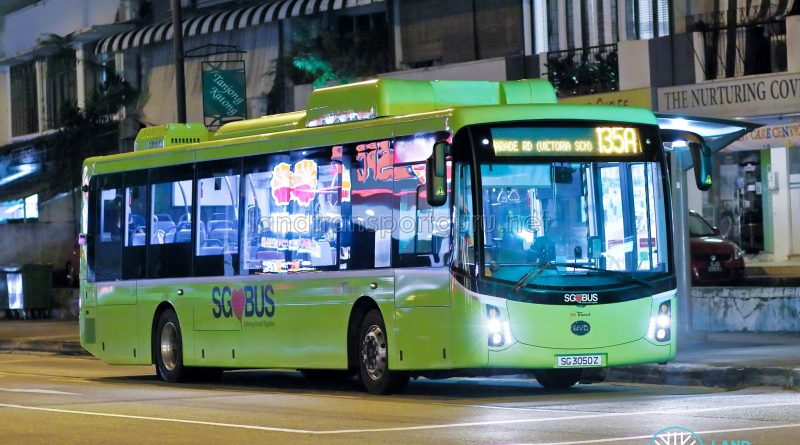 Bus 135A - SBS Transit BYD K9 (SG3050Z)
