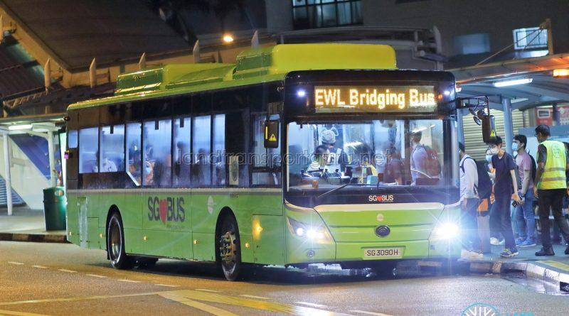 EWL Free Bridging Bus - Tower Transit Yutong E12 (SG3090H)