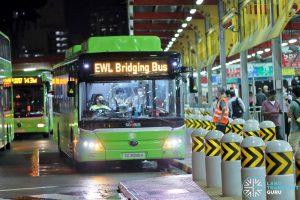 Tower Transit EWL Free Bridging Bus (SG3090H) at Jurong East Temp Int