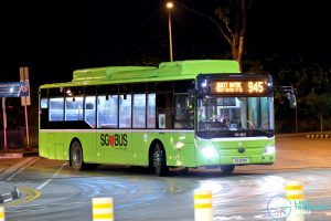 Bus 945: Tower Transit Yutong E12 (SG3091E)