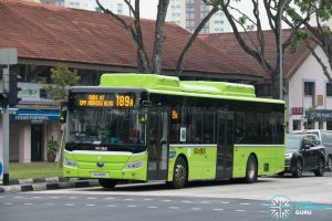 Bus 189A: Tower Transit Yutong E12 (SG3091E)