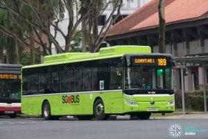 Bus 189: Tower Transit Yutong E12 (SG3092C)