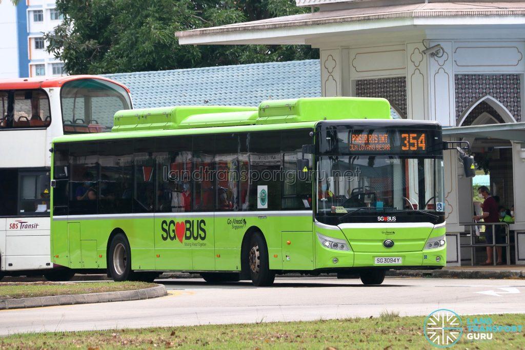 Bus 354 - Go-Ahead Singapore Yutong E12 (SG3094Y)