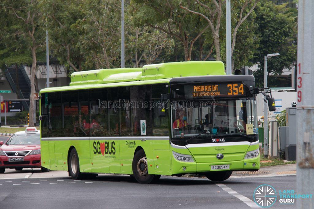 Bus 354: Go-Ahead Yutong E12 (SG3094Y)