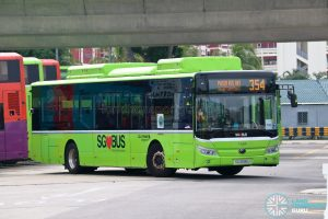 Bus 354 - Go-Ahead Singapore Yutong E12 (SG3095U)