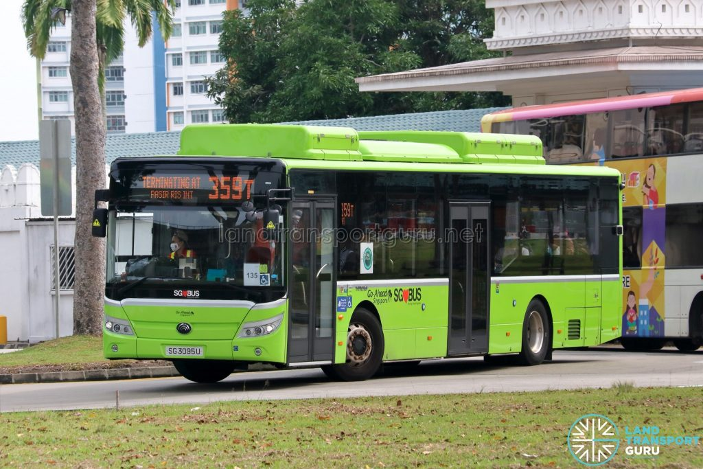 Bus 359T - Go-Ahead Singapore Yutong E12 (SG3095U)