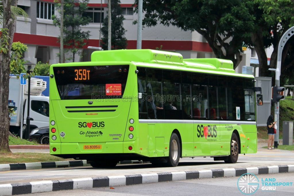 Bus 359T - Go-Ahead Singapore Yutong E12 (SG3095U) [Rear]