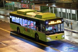 Bus 974A: Tower Transit Yutong E12 (SG3099J)