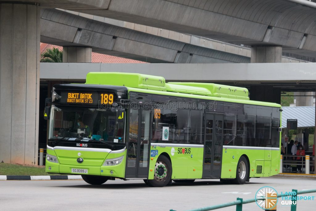 Bus 189: Tower Transit Yutong E12 (SG3099J)