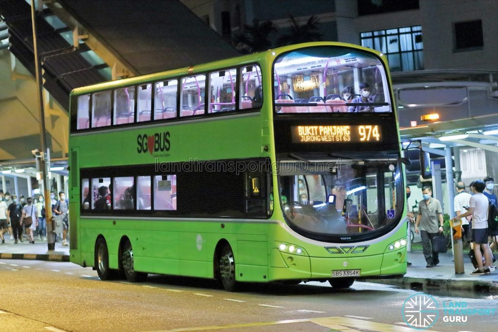 Bus 974 - Tower Transit Volvo B9TL Wright (SBS3354K)
