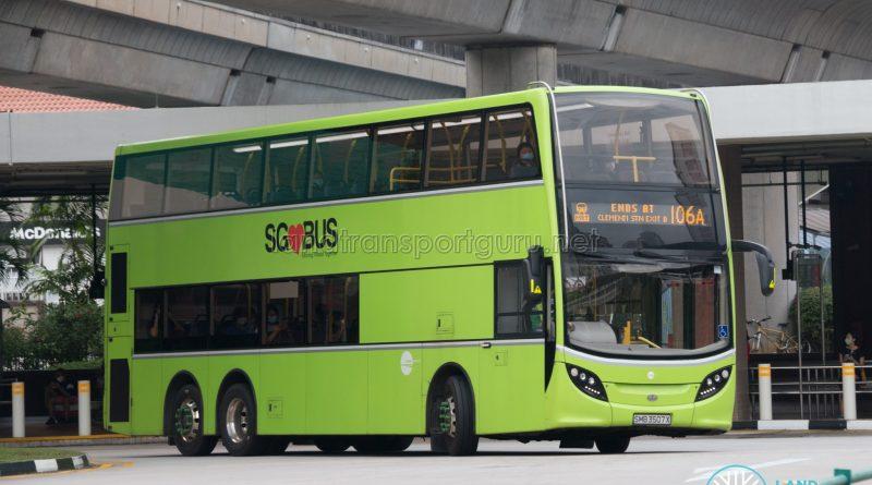 Bus 106A: Tower Transit ADL Enviro500 (SMB3507X)