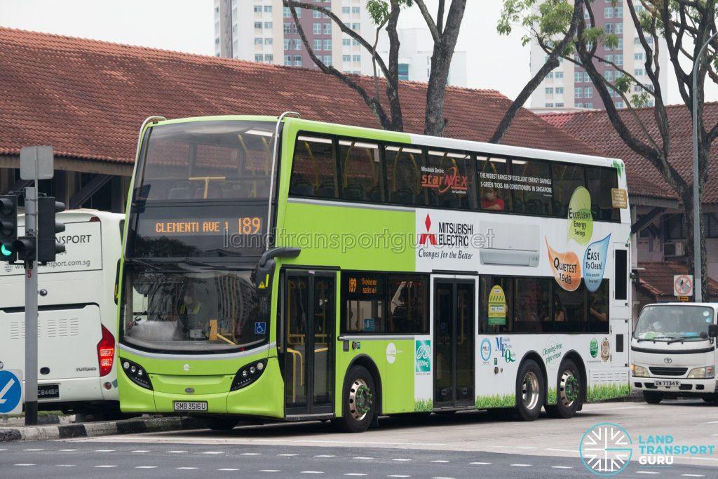 Bus 189: Tower Transit ADL Enviro500 (SMB3516U)