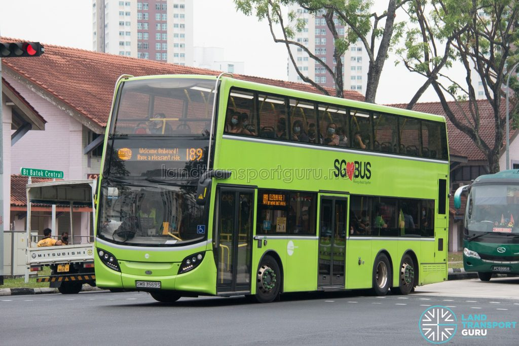 Bus 189: Tower Transit ADL Enviro500 (SMB3569S)