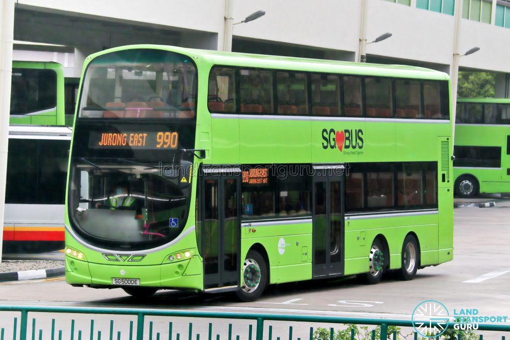 Bus 990: Tower Transit Volvo B9TL Wright (SG5000E)