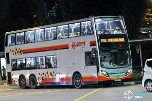 NSL Bridging Bus - SMRT Buses Alexander Dennis Enviro500 (SMB5014M)