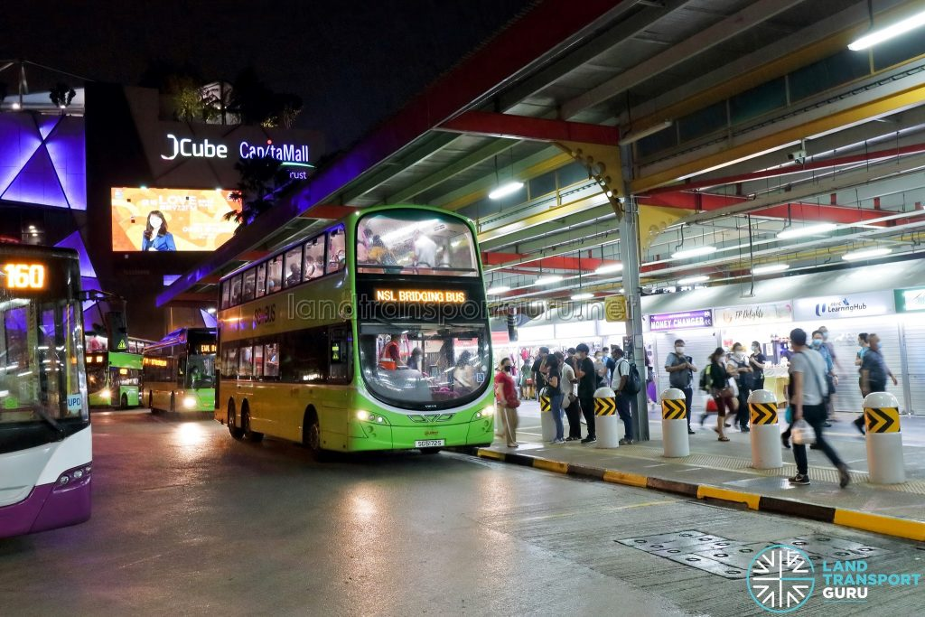 SMRT Buses NSL Free Bridging Bus (SG5172S) at Jurong East Temp Int