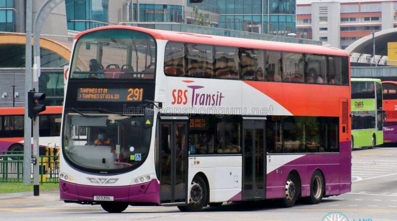 Bus 291 - SBS Transit Volvo B9TL Wright (SG5319L)