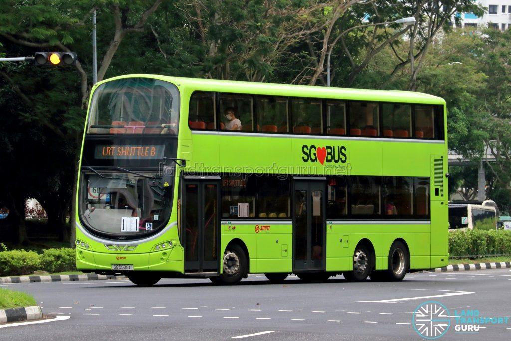 LRT Shuttle B - SMRT Buses Volvo B9TL Wright (SG5535D)