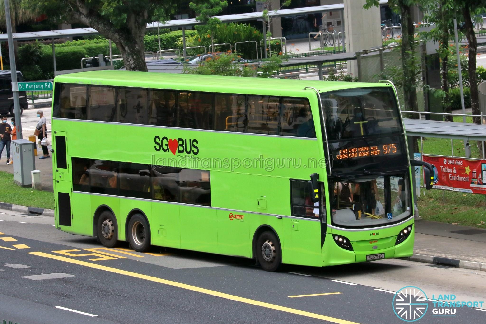 Bus 975 - SMRT Buses Alexander Dennis Enviro500 (SG5714D)
