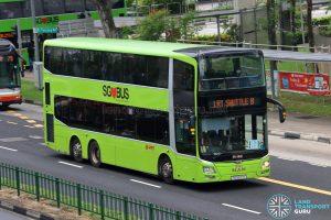 LRT Shuttle B - SMRT Buses MAN A95 (SG5871H)