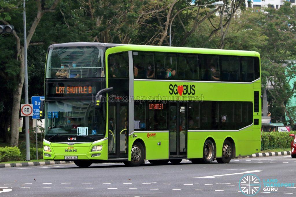 LRT Shuttle B - SMRT Buses MAN A95 (SG5873C)