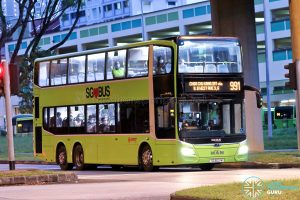 Bus 991: SMRT Buses MAN Lion's City DD A95 (SG6021M)