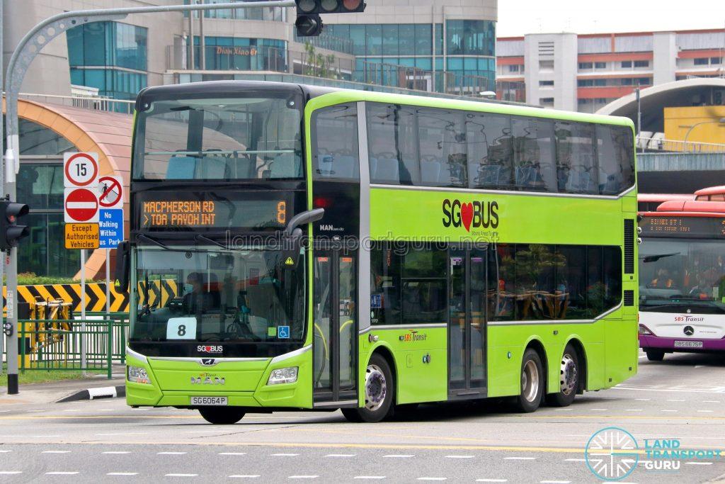 Bus 8 - SBS Transit MAN A95 Euro 6 (SG6064P)