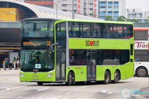 Bus 37 - SBS Transit MAN A95 Euro 6 (SG6076E)