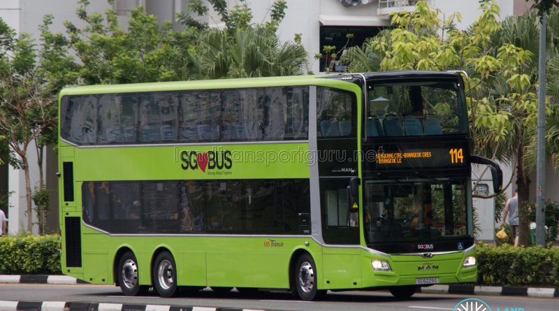 Bus 114: SBS Transit MAN Lion's City DD A95 (SG6229G)