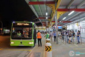 Tower Transit EWL Free Bridging Bus (SBS6344U) at Jurong East Temp Int