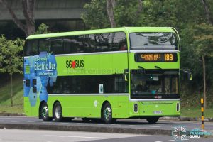 Bus 189 - Tower Transit Yutong E12DD (SG7003J)