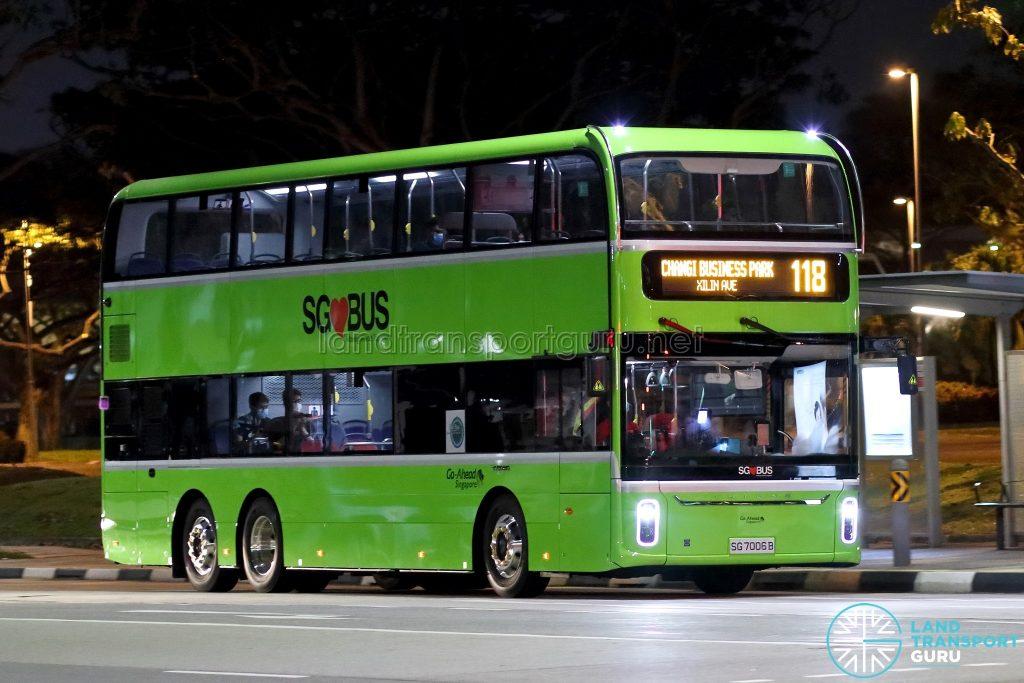 Bus 118 - Go-Ahead Singapore Yutong E12DD (SG7006B)