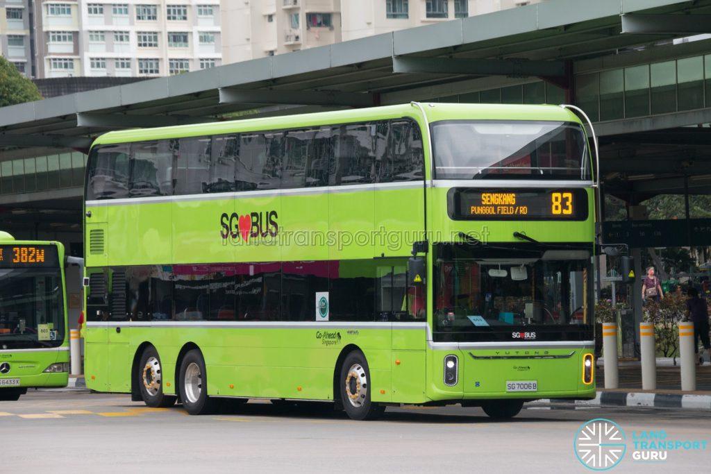 Bus 83 - Go-Ahead Singapore Yutong E12DD (SG7006B)