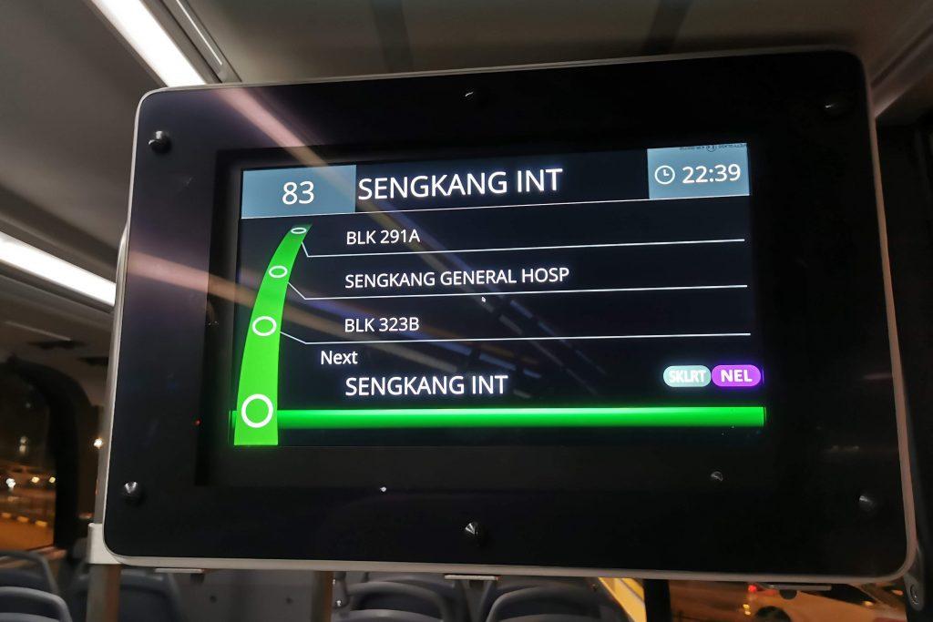 Yutong E12DD - Interior Upper Deck Passenger Information Display System Panel