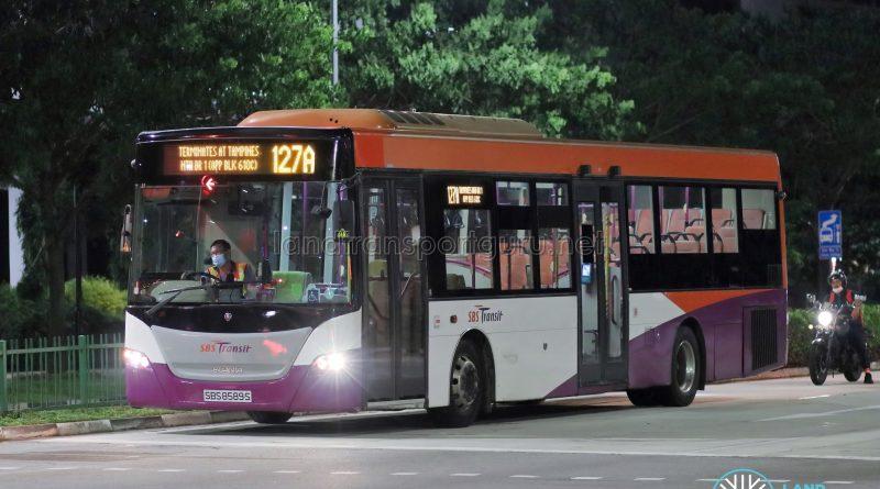Bus 127A - SBS Transit Scania K230UB Euro V (SBS8589S)