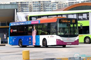 Bus 22 - SBS Transit Scania K230UB Euro V (SBS8872Z)