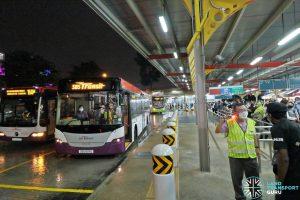 SBS Transit EWL Free Bridging Bus (SBS8911U) at Jurong East Temp Int