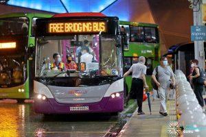 SBS Transit EWL Free Bridging Bus (SBS8988Z) at Jurong East Temp Int
