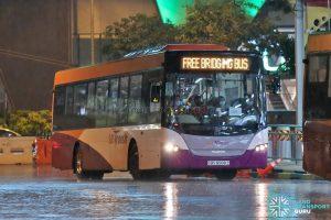EWL Free Bridging Bus - SBS Transit Scania K230UB Euro V (SBS8988Z)