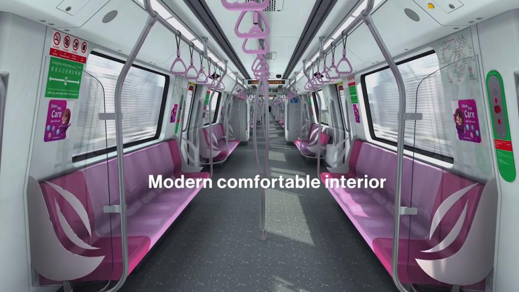 Interior of Bombardier MOVIA CR151 (Image: BombardierRail / Youtube)