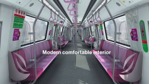 Interior of Bombardier MOVIA CR151 (Image: BombardierRail / Youtube)