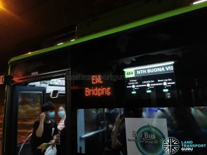 LECIP Exterior PIDS on Yutong E12 during EWL Free Bridging Bus Service