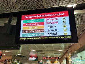 MRT Service Status during MRT Disruption on 14 Oct 2020
