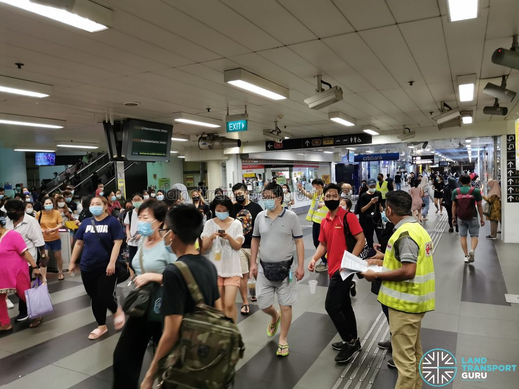 Crowd Level at Woodlands MRT Station during MRT Disruption on 14 Oct 2020