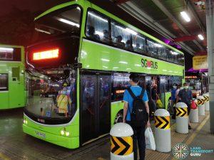 SBS Transit EWL Free Bridging Bus (SBS7473Z) at Jurong East Temp Int