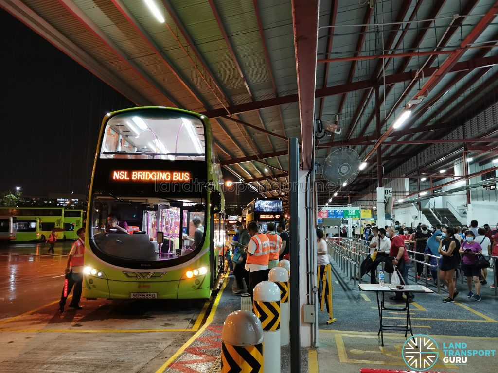 SMRT Buses NSL Free Bridging Bus (SG5535D) at Woodlands Temp Int