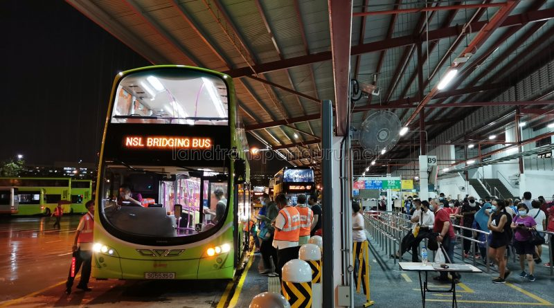 SMRT Buses NSL Free Bridging Bus (SG5535D) at Woodlands Temp Int