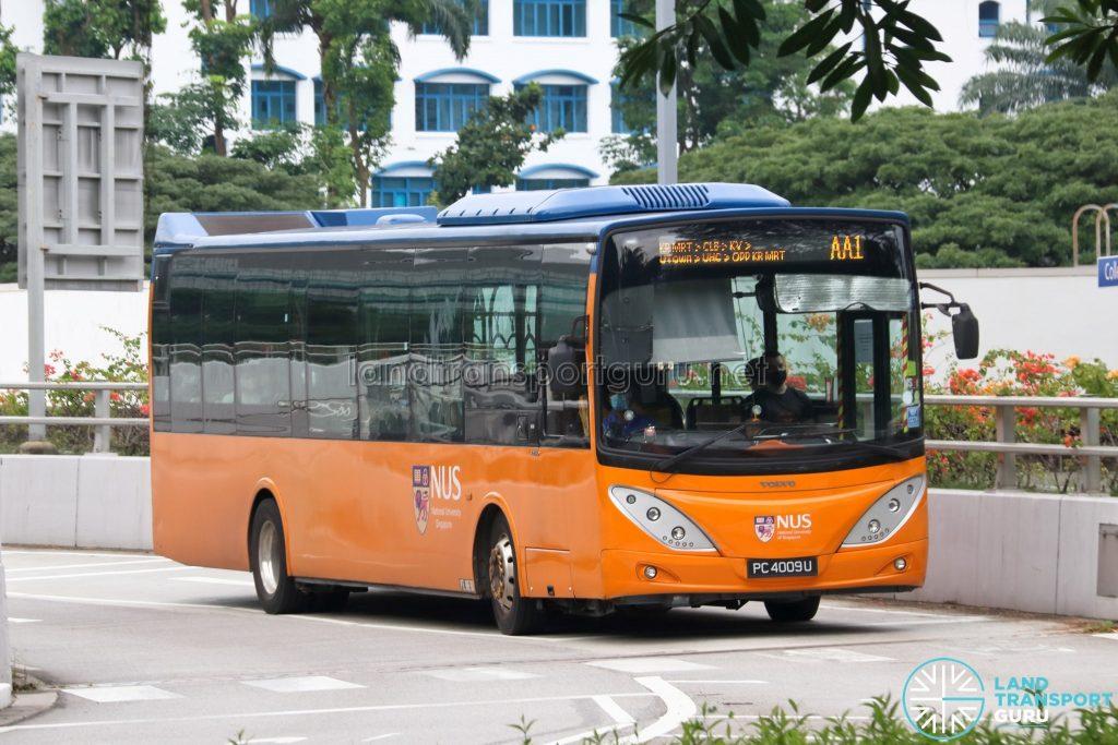 ISB AA1 - ComfortDelGro Bus Volvo B9L (PC4009U)