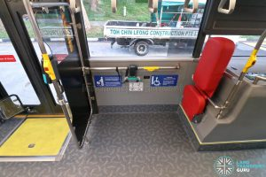 Yutong E12DD - Interior (Front Wheelchair Bay)