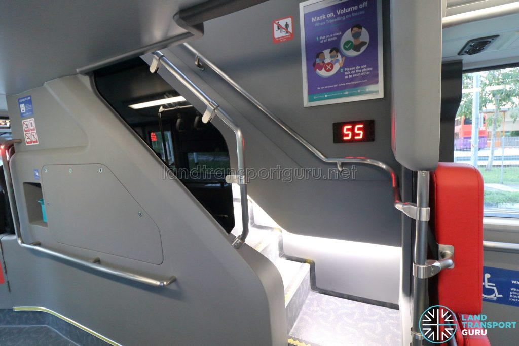 Yutong E12DD - Interior (Staircase from Lower Deck)